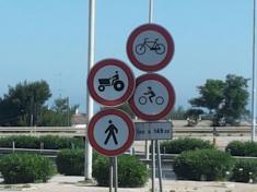 le bici non entrano sulla SS16